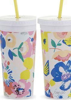 print & pattern: STATIONERY - ban.do travel mugs floral