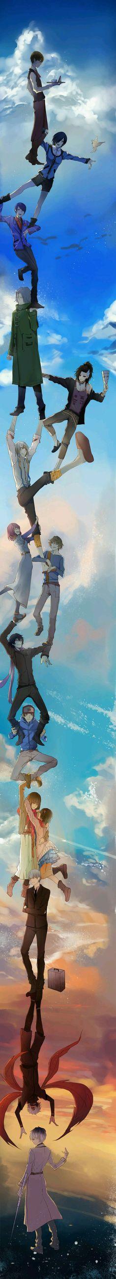 """Toda história tem os seus dois lados! Se vc gosta de sangue, terror, horror com uma colher de criatividade vc vai gostar deste anime(Tokyo GhouI)Um anime que vai fazer vc falar...""""quanto e mil menos sete?"""