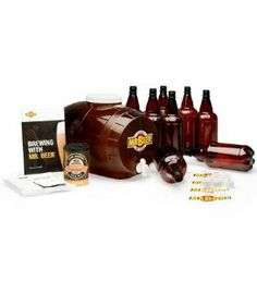 Mr. Beer Homemade Beer Brew Kit Accessories by Catalina Products, LLC.. $29.95. Brewing beer with the Mr. Beer® Kit couldn't be easier or more fun. As a supplement to the Mr. Beer® Kit, the Additional Mr. Beer® brew kit accessories includes eight reusable one-liter bottles, caps and labels.""