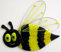 Fused Glass Bee by FusedGlassMenagerie on Etsy