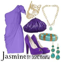 based on Jasmine's purple outfit by request