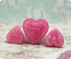 3 Hearts Silicon Moulds Flexible Mold for by MoldsCorporation, $13.50