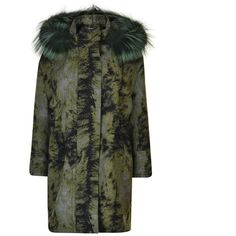 Fendi Fur Trim Parka ($1,950) ❤ liked on Polyvore featuring outerwear, coats, black tea, fendi coat, fur trim coats, fur collar parka, fendi and fox fur collar coat