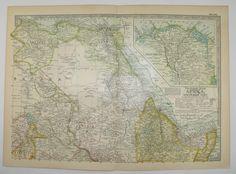 NE Africa Map 1902 Egypt Map Nile River Abyssinia Tripoli Sudan Somali Sahara Libyan Desert Gift Idea for Traveler for the Home Historic Map by OldMapsandPrints on Etsy