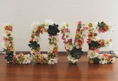Pretty flower letters - cheap & easy
