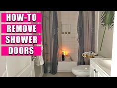 Glass Shower Panels, Shower Sliding Glass Door, Curtain Hangers, Curtain Rods, Gold Curtains, Drapery Panels, House Cleaning Tips, Clean House, Helpful Hints