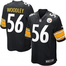 NFL Youth Limited Nike Pittsburgh Steelers  56 LaMarr Woodley Team Color  Black Jersey  69.99 Youth 01bc7a71c