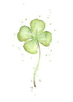 Four Leaf Clover Lucky Charm Painting