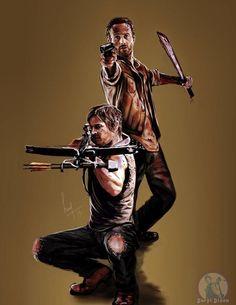 Daryl and Rick.