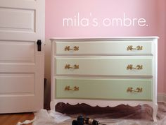 mint ombre dresser. Like this but in peach.