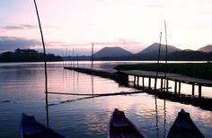 atardecer en Nanciyaga - Lago de catemaco, mexico