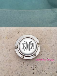Personalized Monogram Purse Hanger, Purse Holder, Purse Hook, Diaper Bag, Lunch Bag, Bridesmaid Gift, Wedding Party Gift, Mom by MichelleriesBoutique on Etsy https://www.etsy.com/listing/256232782/personalized-monogram-purse-hanger-purse