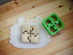 Puzzle Cut Sandwiches   We use Cookie Cutters for our Ethan!