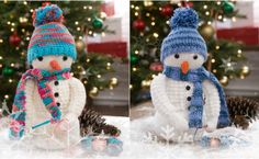 Adorable crochet snowman