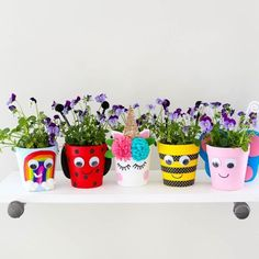 These DIY flower pots are the perfect craft to keep little hands busy this spring! See how @thelittlesandme made this craft by clicking our link in profile. #kidscraft #craft #spring #flowers #orientaltrading #fun365