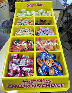 #Sweetie Tray available to hire from our #Oldham Shop, £1 per head minimum 15 people.  Includes 100g of sweets per person, paper bags, hire of tray, scoops and tongs, each tray can cater for up to 35 people.
