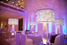 Lamps - Snowflakes and snow globes for a holiday/winter party