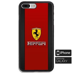 154e115e00b Ferrari Logo Red Print On Hard Plastic Cover Protector Phone Case For iPhone  7/7+, iPhone 8/8+, iPhone X And Samsung Galaxy S8/S8+, Samsung Note 8
