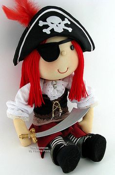Girl Pirate. I have a mad passion for pirates. Doll and photo is by Tata Bonecas on Flickr.