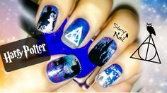 Harry Potter and the Deathly Hallows Nail Art Tutorial