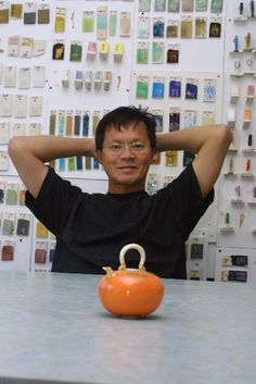 Fong Choo - I admire his teapots!  Click through to his website and see more!  http://www.fongchoo.com/