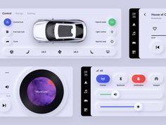 Car UI Concept / Light mode designed by Ran Mingwei. Connect with them on Dribbble; Design Responsive, App Ui Design, Mobile App Design, User Interface Design, Flat Design, Site Design, Template Web, Car Ui, Dashboard Ui