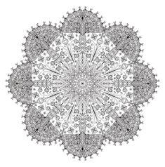 Mandala Monday - Free Mandalas to Color by WelshPixie - Artwork by Atmara Mandala Coloring Pages, Coloring Book Pages, Coloring Sheets, Drawn Art, Hand Drawn, Art Template, To Color, World Of Color, Free Coloring
