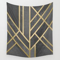 Wall Tapestry featuring Art Deco Geometry 1 by Elisabeth Fredriksson