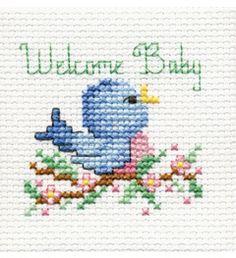 "Bucilla ® Counted Cross Stitch - Beginner Stitchery - Mini - Welcome Baby Size: 2"" x 2"""