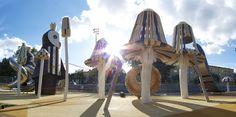 giant mushroom playground