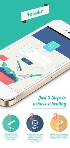 Nreader App by Amanda koh jia xin, via Behance