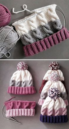 Cozy Cable Knit Hat - Free Pattern - Knitting is as easy as 3 The knitting . Cozy Cable Knit Hat - Free Pattern - Knitting is as easy as 3 Das Str . Cable Knit Hat, Cable Knitting, Vogue Knitting, Knitting Blogs, Baby Hats Knitting, Knitting For Beginners, Baby Knitting Patterns, Knitting Stitches, Free Knitting