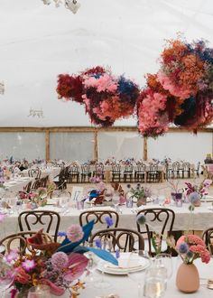 Boho DIY wedding aesthetic with dramatic colourful floral clouds! Wedding Table Centerpieces, Flower Centerpieces, Flower Arrangements, Wedding Decorations, Wedding Trends, Diy Wedding, Wedding Reception, Dream Wedding, Civil Wedding
