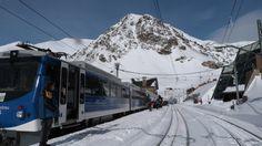 El cremallera a l'hivern. The rack railway in winter