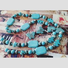 Semiprecious turquoise beads jewelry set with sterling silver 925 accesories Turquoise Beads, Turquoise Bracelet, Jewelry Sets, Fine Jewelry, Summer Gifts, Make Design, Boho Chic, Bohemian, Sterling Silver