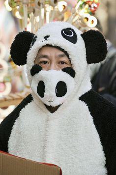 <パンダのマスクを付けて露店の準備をする店員=30日、北京市の地壇公園>(共同) ▼30Jan2014産経新聞|大みそか、各地で有害濃霧 中国、爆竹自粛呼び掛け http://photo.sankei.jp.msn.com/highlight/data/2014/01/30/23panda/ #chunjie #chinese_new_year #lunar_new_year #china #beijing