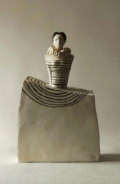 Unique Ceramic Sculpture , Fine Art Ceramic , Art Object , Handmade Clay Sculpture , Clay Figure , Ceramic Art , Ceramic Figurine , Pottery, Home Decoration , Figura Ceramiczna , Rzeźba Ceramiczna ,  by ImagoArtDesign