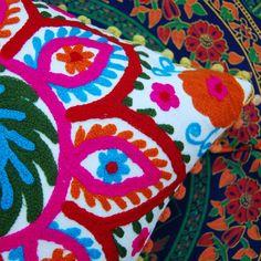 MANDALA SUZANI DECORATIVE FLOOR SEATING PILLOW CUSHION COVER Boho Decor #Handmade #ArtsCraftsMissionStyle