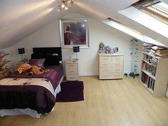 spacious attic bedroom design