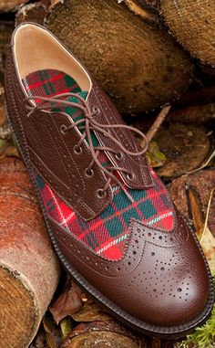 Custom Tartan Country Brogues by Scotweb•´ ` ❤☆.¸.☆ *❤•