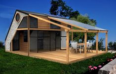 Tiny House Design with Deck . Tiny House Design with Deck . Tiny Guest House, Tiny House Big Living, Modern Tiny House, Tiny House Cabin, Tiny House Design, Small House Plans, D House, House Deck, House 3d Model