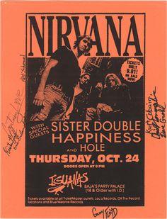 Nirvana, Flyer from Iguana's Tijuana, Mexico