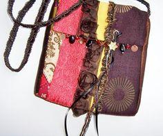 Crossbody Bag Cool Boho Handbag Purse Pouch Hip by BloomingGoddess, $32.95