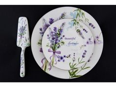 8 dielna  sada tanierov+ lopatka Levanduľa Plates, Tableware, Licence Plates, Dishes, Dinnerware, Griddles, Tablewares, Dish, Place Settings