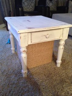 After look - shabby chic end table.  Sold $60