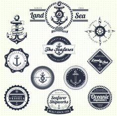 Nautical themed lables