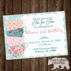 Hey, I found this really awesome Etsy listing at https://www.etsy.com/listing/270320016/tea-for-two-invitation