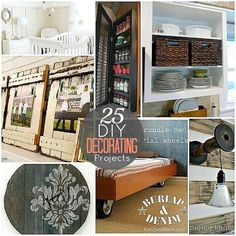 25 different, unique and special Home Decorating Projects : Most of these Home decorating ideas will save you a few hundred dollars easily......Have some fun with it! #diy,#how to,#homemade,#handmade,#tips