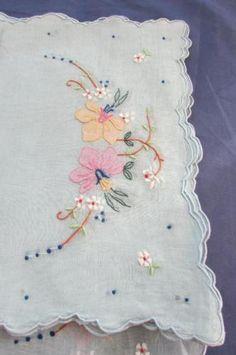 Kitchen & Table Linens Placemats Lovely Antique 16pc Set Lavender Trim White Linen Madeira 8 Placemats 8 Napkins