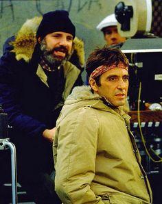 Brian De Palma & Al Pacino on the set of Scarface